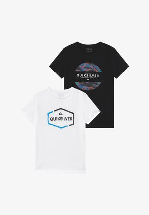 NORWAY MIX FLAXTON 2 PACK - T-shirt print - black/white