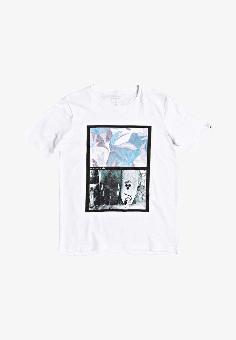 Quiksilver - QUIKSILVER™ OVERSIZED - T-SHIRT FÜR JUNGEN 8-16 EQBZT04133 - Print T-shirt - white