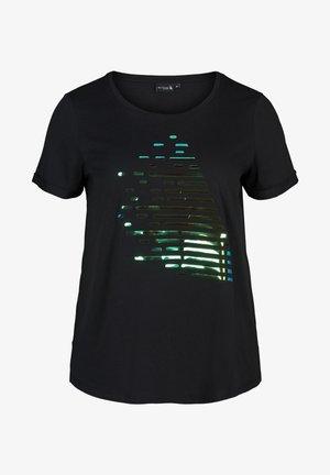 MIT DRUCK - Printtipaita - black