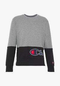 Champion - ROCHESTER CREWNECK BLOCK - Collegepaita - grey melange/black - 4