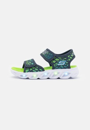 HYPNO SPLASH - Sandály - navy/lime/blue
