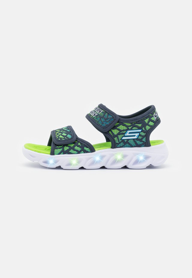 HYPNO SPLASH - Sandalias - navy/lime/blue