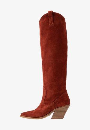 KOLE - Cowboy/Biker boots - deep rust