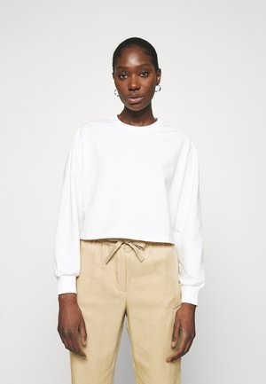 Short oversize sweatshirt - Sweatshirt - off white