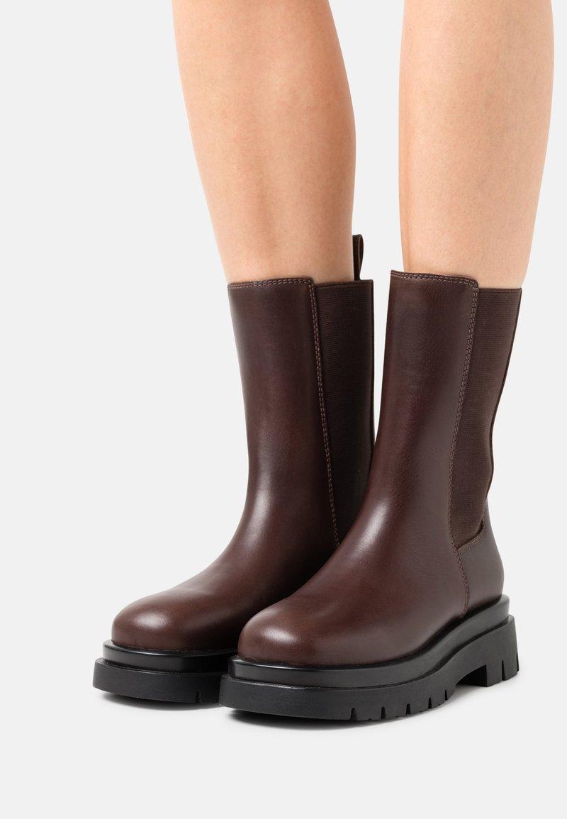 ALDO - MAPLE - Platform boots - brown