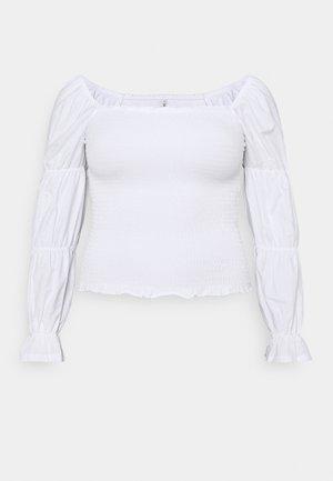 ONLDELI LIFE SMOCK - Blouse - bright white