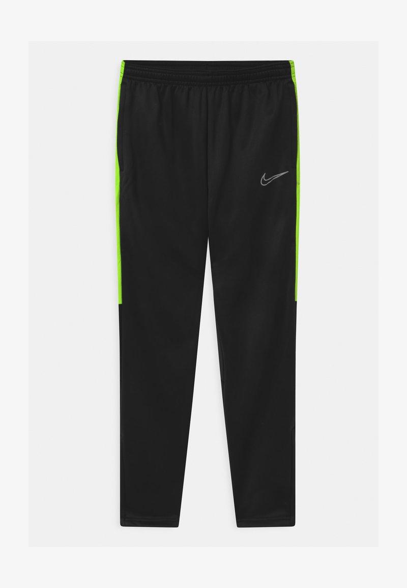 Nike Performance - ACADEMY WINTERIZED - Tracksuit bottoms - black/volt/reflective silver