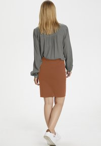 Kaffe - PENNY SKIRT - Pencil skirt - sierra