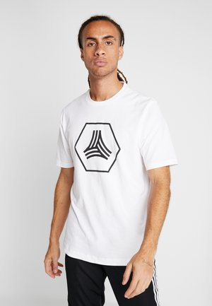 TAN LOGO TEE - Camiseta estampada - white