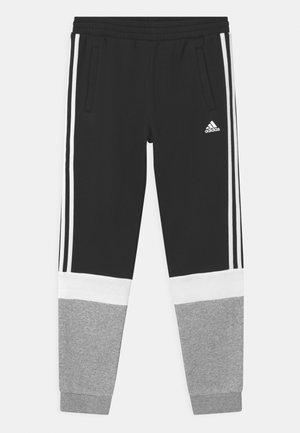 UNISEX - Tracksuit bottoms - black/medium grey heather/white