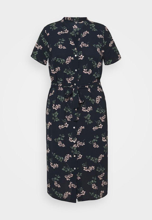 VMSAGA CALF SHIRT DRESS - Sukienka koszulowa - navy blazer