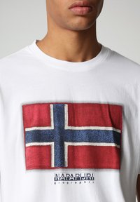 Napapijri - SIROL - Print T-shirt - bright white - 2