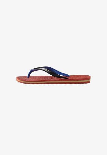 BRASIL MIX - Pool shoes - black, red