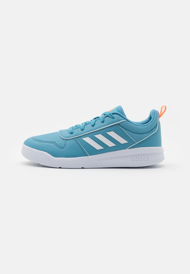 TENSAUR UNISEX - Sports shoes - hazy blue/footwear white/screaming orange