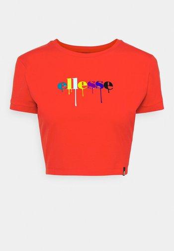ROMANCIA CROP - T-shirt print - red