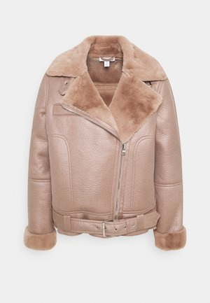 FELICITY BORG BIKER - Faux leather jacket - pink