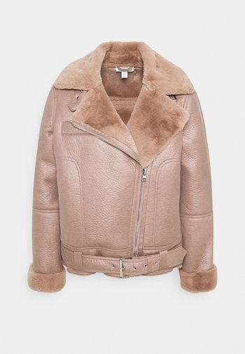 FELICITY BORG BIKER - Faux leather jacket - pink