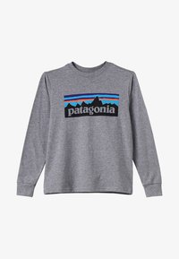 Patagonia - GRAPHIC ORGANIC UNISEX - T-shirt à manches longues - gravel heather - 3