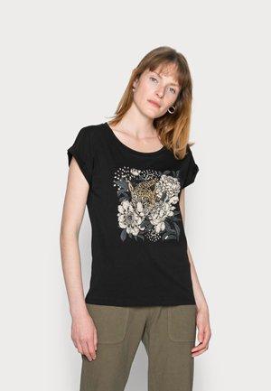 FREDRIKKA - T-shirt print - pitch black