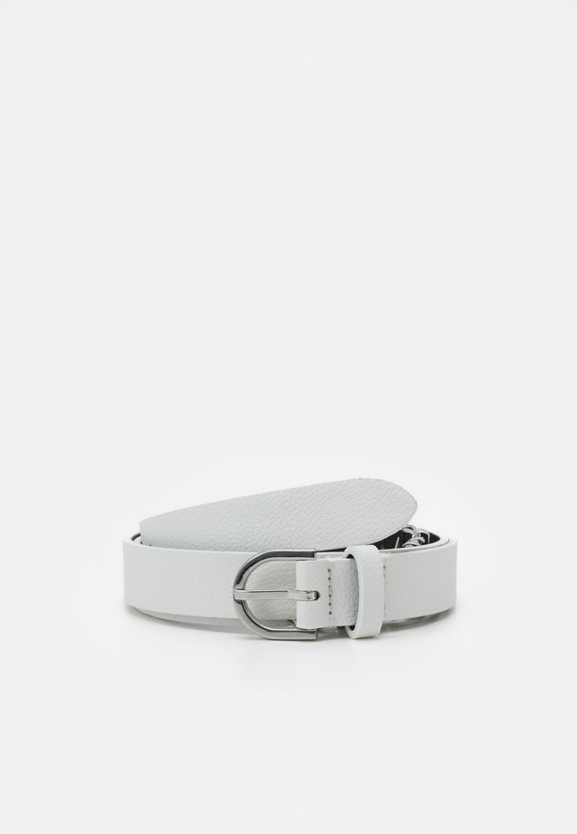 ROUND BUCKLE BELT CHARMS - Belt - white