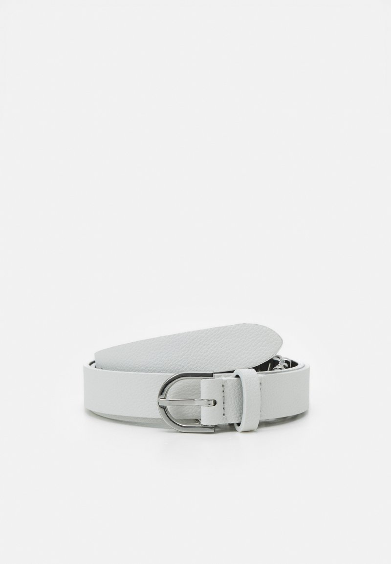 Calvin Klein - ROUND BUCKLE BELT CHARMS - Pásek - white