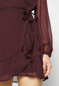 Abercrombie & Fitch - WRAP DRESS - Cocktail dress / Party dress - burgundy - 5