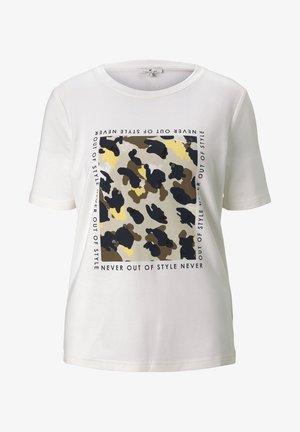 T-shirt con stampa - whisper white