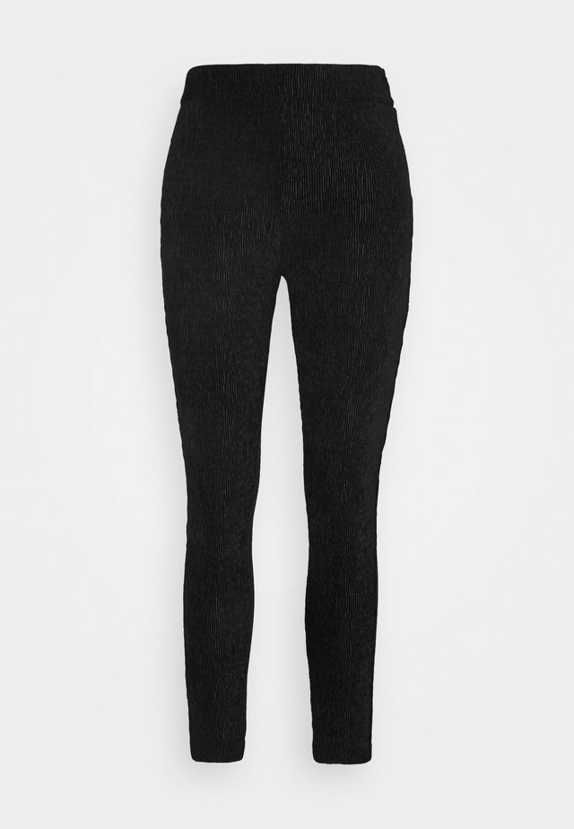 OBJVIOLET  - Leggings - Trousers - black