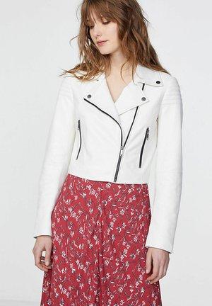 Leather jacket - blanc cassé