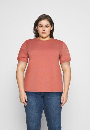 PCRIA FOLD UP SOLID TEE - Basic T-shirt - canyon rose