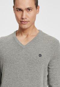 Timberland - Stickad tröja - medium grey heather - 3