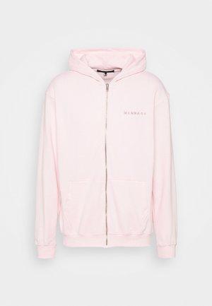UNISEX ESSENTIAL REGULAR ZIP UP HOODIE - Sweater met rits - rose