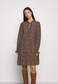 Vero Moda - VMHIBISCUS TIE DRESS - Day dress - beige - 0
