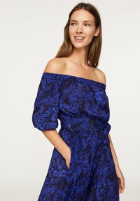 OYSHO - OFF-THE-SHOULDER TWO-TONE DRESS 31998115 - Day dress - blue - 3