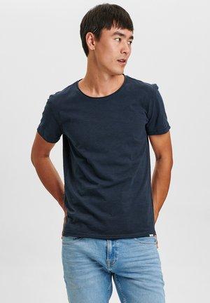 KONRAD STRAIGHT SLUB TEE - Basic T-shirt - navy