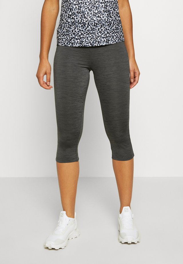 INFLUENTIAL - 3/4 sports trousers - charcoal grey