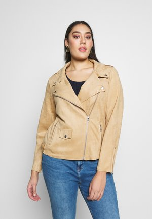 ESUS JACKET - Faux leather jacket - beige
