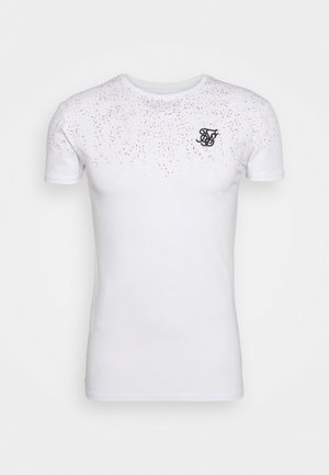 SPECKLE GYM TEE - T-shirt imprimé - white/pink