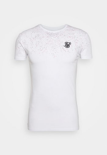 SPECKLE GYM TEE - T-shirt con stampa - white/pink