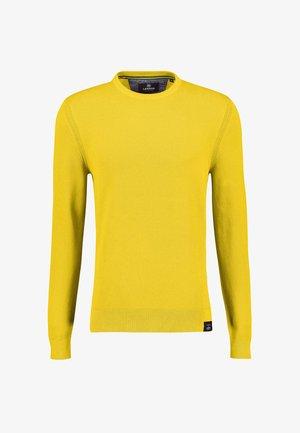 IN STRUKTURSTRICK - Jumper - faded yellow