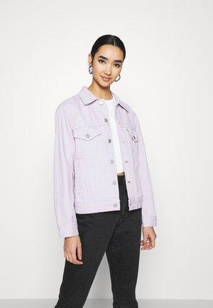 EX BOYFRIEND TRUCKER - Džínová bunda - chalky lavender