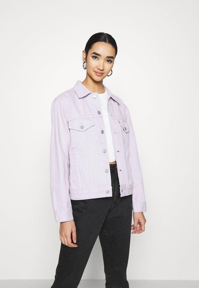 EX BOYFRIEND TRUCKER - Denim jacket - chalky lavender