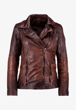 ADVANCE LATEOV - Chaqueta de cuero - vintage brown