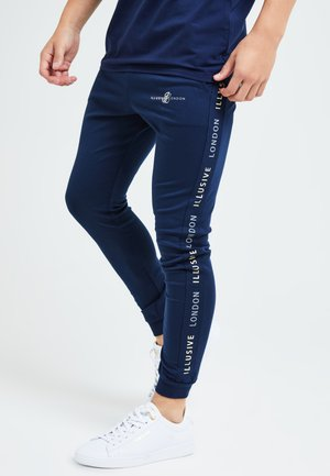 Tracksuit bottoms - navy & cream