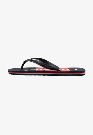 GRAPHIC - T-bar sandals - blue with red