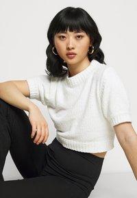 Missguided Petite - CHENILLE  - Print T-shirt - white - 3