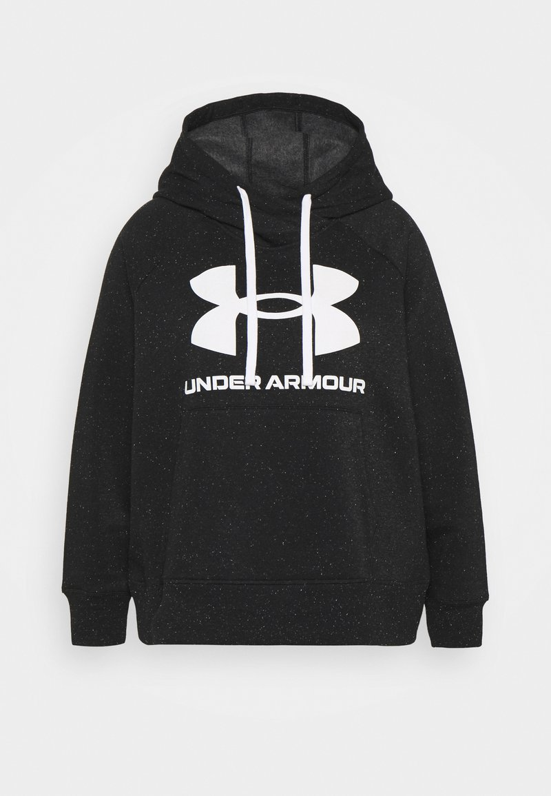 Under Armour - RIVAL LOGO HOODIE - Hoodie - black/white