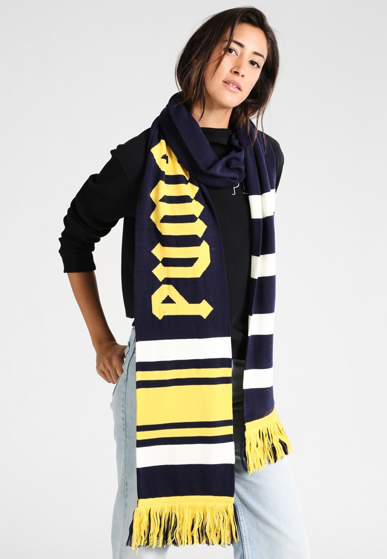 Fenty PUMA by Rihanna - LONG VARSITY SCARF - Sjaal - evening blue/lemon/vanilla ice