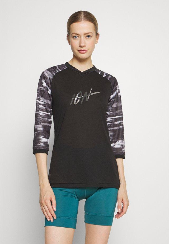 TEE 3/4 SCRUB - Sports shirt - black