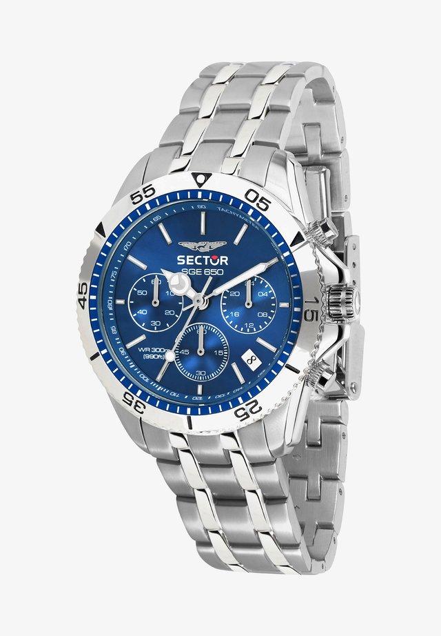 Chronograaf - silber blau